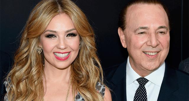 Thalía dedico un cariñoso mensaje a su esposo por su cumpleaños número 69