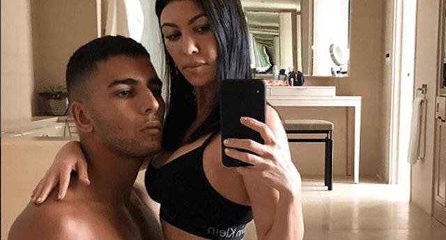 Kourtney Kardashian fue criticada por su novio.