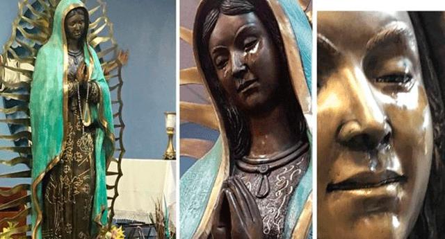 Hace unos meses, fieles captaron a una estatua de la Virgen de Guadalupe llorando durante una misa en una iglesia de Nuevo México