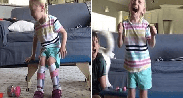 Maya caminó por primera vez y sus padres se emocionaron.