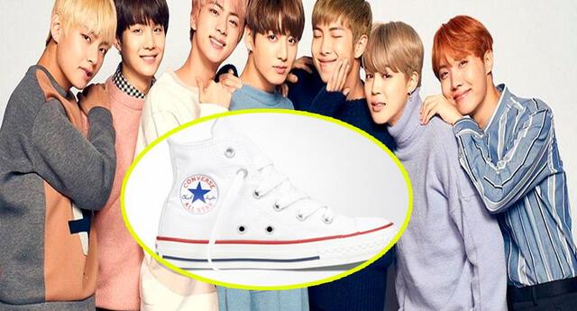 Mira cómo lucirán las zapatillas de Converse inspiradas en BTS.
