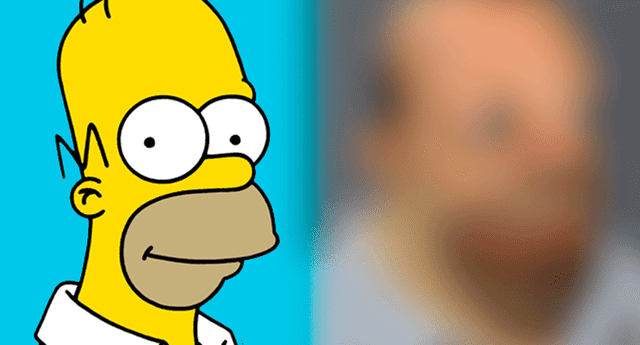 Artista visual creó retrato realista del famoso personaje Homero Simpson