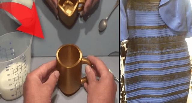 Luego del 'vestido multicolor' llega la taza para confundir a todos en YouTube.
