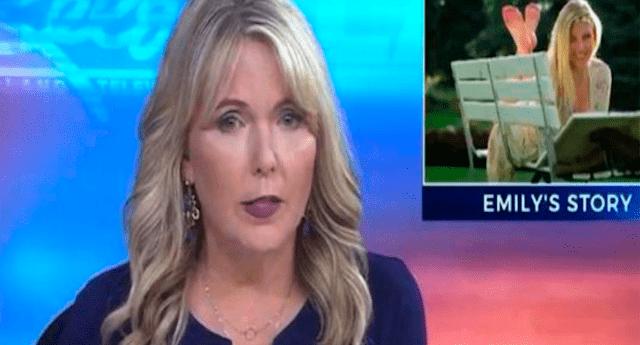 Periodista se enteró de la trágica muerte de su hija y lo informó durante noticiero en vivo.
