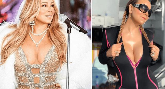 Mariah Carey se luce en sexy lencería transparente y presume su cuerpo tras bajar 30 kilos.