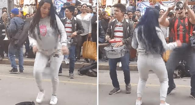 """Venezolana baila """"La chismosa"""" en Gamarra y sus pasos enamoran"""
