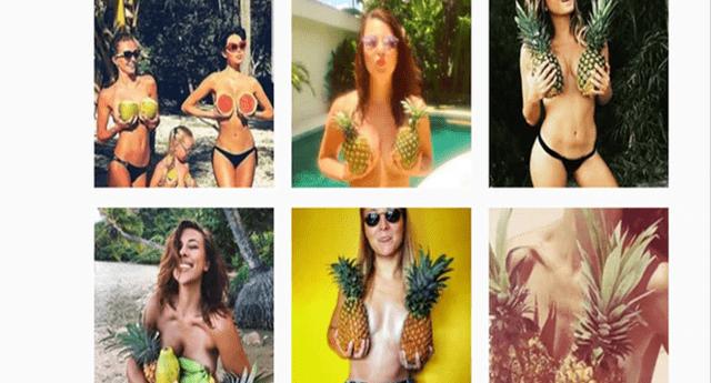 ¡Cubrirse los senos con piñas! Nueva tendencia en Instagram está dando qué hablar en el mundo.