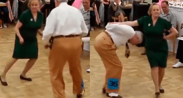 Pareja de ancianos causó furor con espectacular coreografía de 'rock and roll'