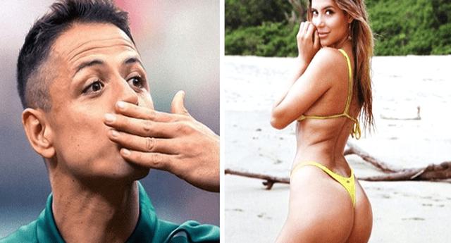 """Javier """"Chicharito"""" Hernández oficializa su relación con sexy influencer australiana."""