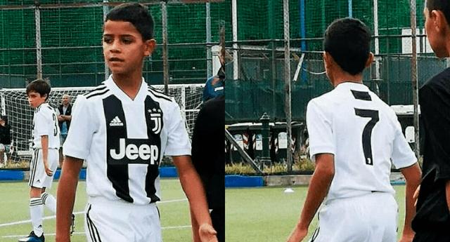 Cristiano Ronaldo Jr. marcó dos sorprendentes goles.