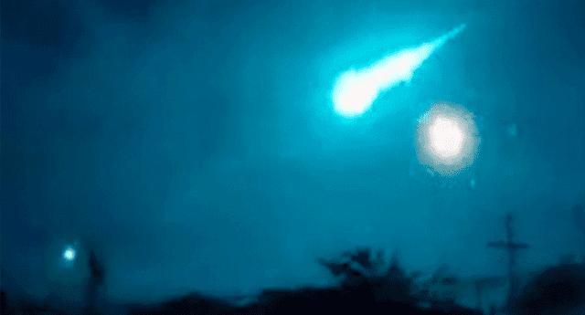 El meteorito fue visto en provincias del norte de Argentina.