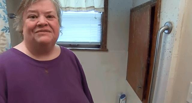 Alison Gibson estuvo atrapada cinco días en su bañera.