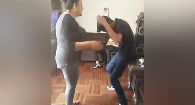 """Niño baila """"Fortnite"""" con pasos de la """"malagua"""" y su madre lo pone en su sitio."""
