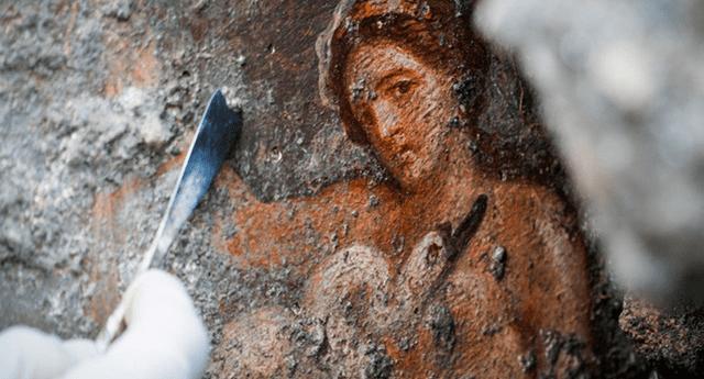 """Según declaró el director del parque arqueológico de Pompeya, Massimo Osanna, se trata de una representación """"única e interesante"""" del mito griego de Leda y el Cisne"""