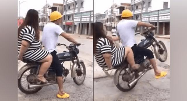Chica se sube a la moto de su amigo, pero se resbala y ocurre tragedia.