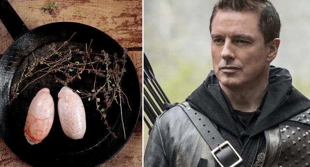 Actor comió testículos de toro en vivo.