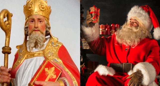 El origen de Papá Noel está relacionada a la historia de Nicolás de Bari, un obispo de Turquía que ahora es un santo