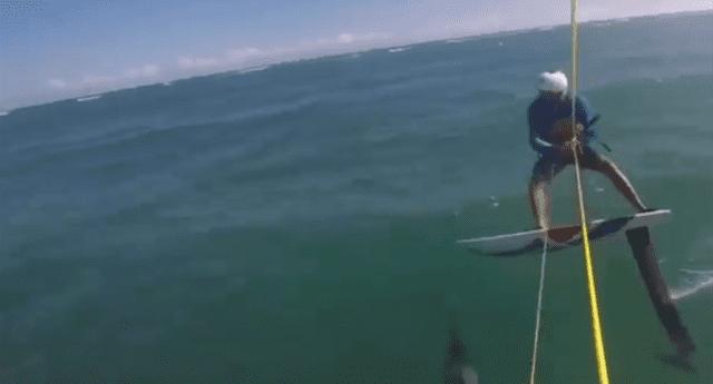 El deportista vio al animal segundos antes pero no pudo reaccionar
