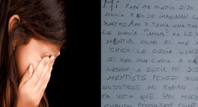Niño escribió una desgarradora carta en la que expresó la gran decepción que sentía por su padre