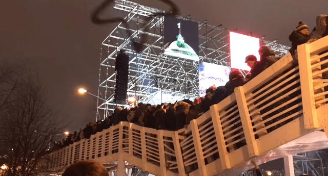 Mira el momento exacto de la caída del puente