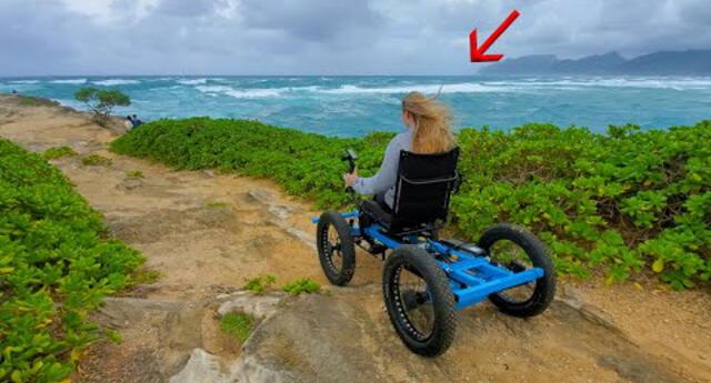 """Youtuber fabrica """"silla de ruedas todoterreno"""" para su novia y ahora las vende en masa (VIDEO)"""