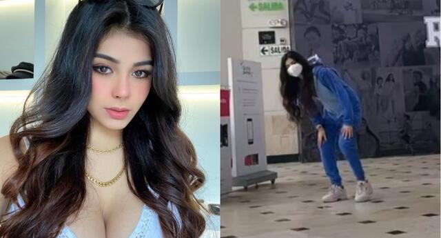 Tiktoker peruana 'Aylin criss' recibe críticas por bailar en el Jockey Plaza en plena pandemia