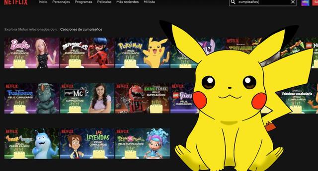 Netflix: Con esta opción Pikachu, Barbie y más personajes de series infantiles te cantarán 'feliz cumpleaños'