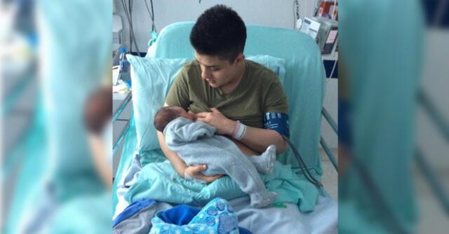 Padre trans sube una foto amamantando a su bebé y recibe críticas, pero él se defiende