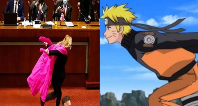 Parlamentaria corre como Naruto para celebrar aprobación de proyecto de ley y se vuelve viral