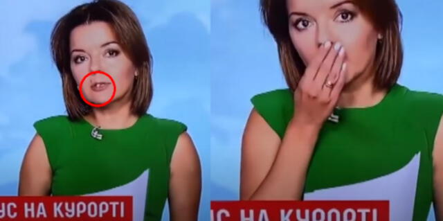 ¡Para no creer! Presentadora de TV sufre bochornoso accidente durante transmisión en vivo [VIDEO]