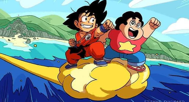 Goku, Bulma, el maestro Roshi y más: Dragon Ball y Steven Universe se unen en increíble crossover