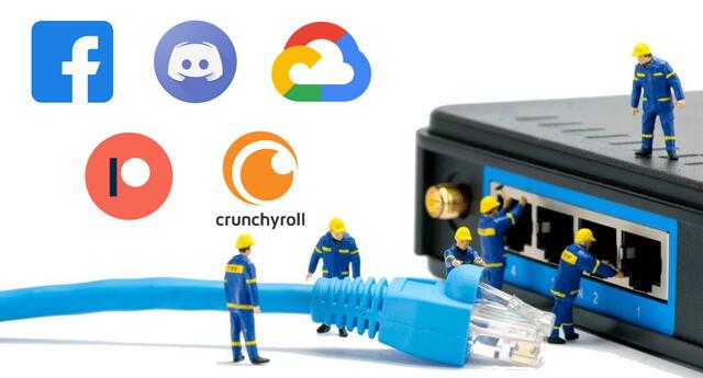 Algunas de las plataformas digitales y servicios más populares de la red están experimentando fallas técnicas. | Fuente: Composición.