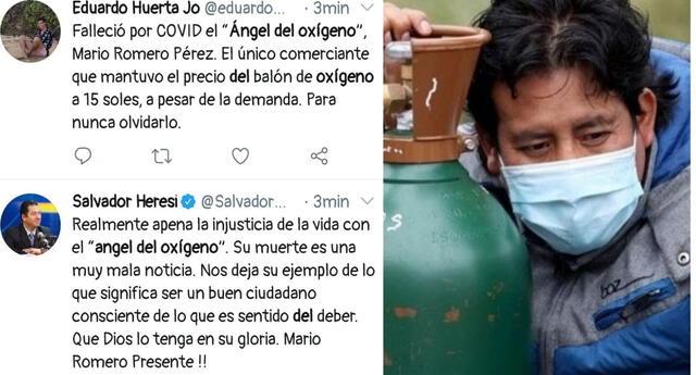 Usuarios lamentan la muerte del 'Ángel del Oxígeno' y se despiden con sentidos mensajes