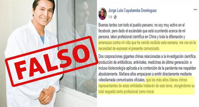 Jorge Cuyubamba estafó a medios peruanos diciendo que era cientifico