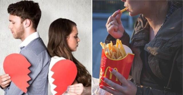 Si tu pareja va sola a comer en McDonald's, es como una infidelidad según encuesta