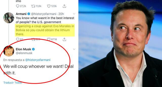 Elon Musk asegura que USA dará golpes de estado donde quieran