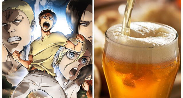 Llega la nueva cerveza de Shingeki no Kyojin: 'Enma Red y Enma Black'