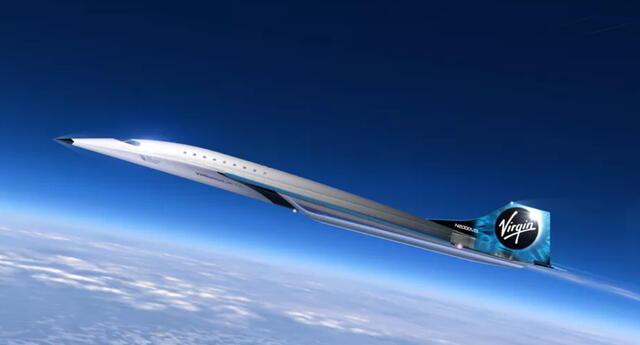El jet supersónico de la compañía permitirá un viaje sumamente rápido para los pasajeros que estén dispuestos a pagar su cara tarifa. | Fuente: Virgin Galactic.