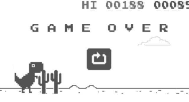 ¿También jugaste con el dinosaurio de Chrome? Así es el final de este conocido juego de Google (VIDEO)