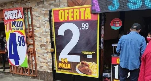Pollería se vuelve viral por vender 1/4 de pollo a la brasa a S/3