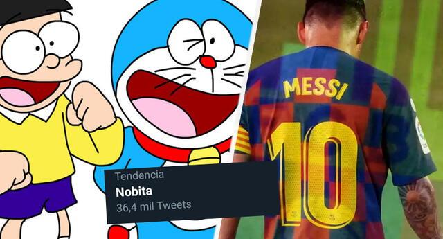 Messi y su partida del Barcelona hacen tendencia a Nobita de Doraemon ¿por qué?