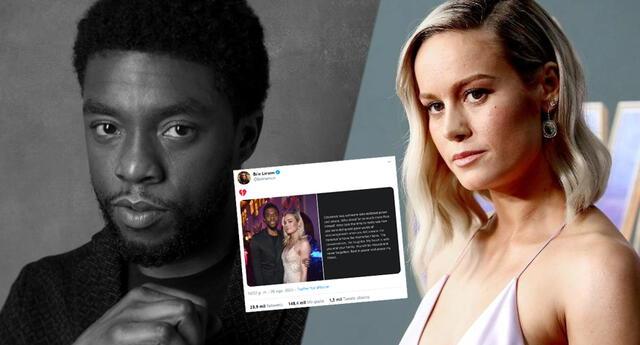 Brie Larson comparte sentido mensaje tras la muerte de Chadwick Boseman