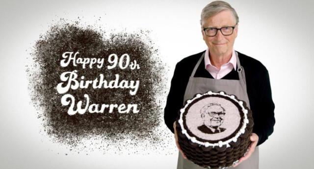 También es cocinero: Bill Gates prepara pastel de Oreo a Warren Buffet y sube video a sus redes sociales (VIDEO)