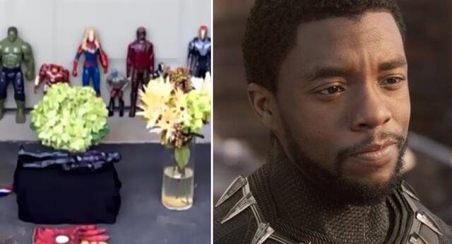 Niño organiza funeral con juguetes de Marvel para despedir a Black Panther (VIDEO)