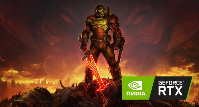 El gameplay de DOOM Eternal en una GeForce RTX 3080 es un agasajo para todo entusiasta del gaming en PC. | Fuente: Bethesda.