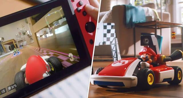 Gracias a Mario Kart Live: Home Circuit tu casa será una pista de carreras con un coche inteligente