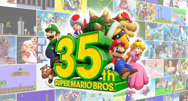 Super Mario Bros., el legendario videojuego de Nintendo, cumple 35 años de lanzamiento en todo el mundo. | Fuente: Nintendo.