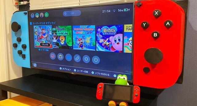 ¡El regalo perfecto! Convierten una televisión en un Nintendo Switch gigante (VIDEO)