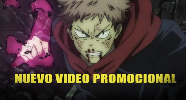 Jujutsu kaisen video promocional