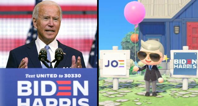 Joe Biden, candidato a la presidencia de Estados Unidos por el Partido Demócrata, buscará nuevos votantes a través de Animal Crossing: New Horizons.   Fuente: Nikkei Asian Review.